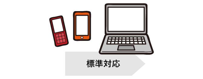 パソコン/スマートフォン/ガラケー対応