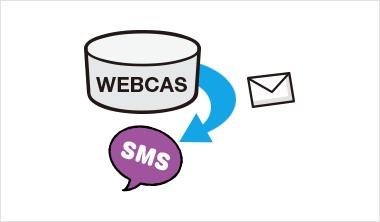 メールマーケティングシステムWEBCASのデータベースと連動