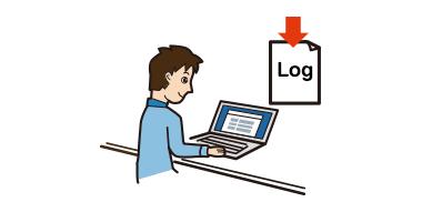 情報漏洩を抑制する操作ログダウンロード機能