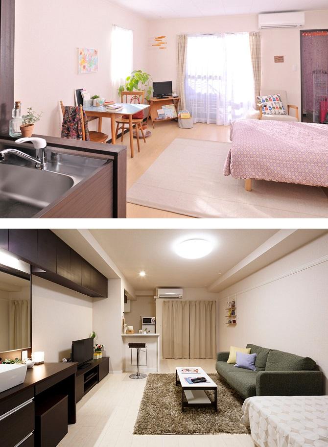 レオパレス21の家具・家電付きの部屋の一部(イメージ)
